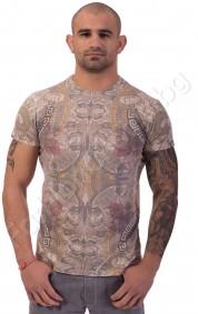 Мъжка тениска CEDAR WOOD с бял гръб