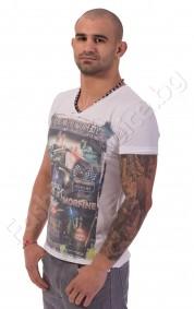 Експортна тениска BLACK FLYER TEMPLATE в бяло или синьо