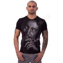 Мъжка тениска BOB MARLEY в черно