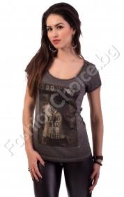 Дамска блуза Young Wild & Free с колие