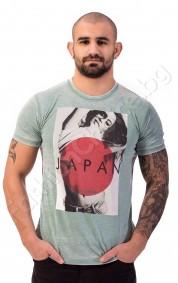 Мъжка тениска JAPAN в светло синьо