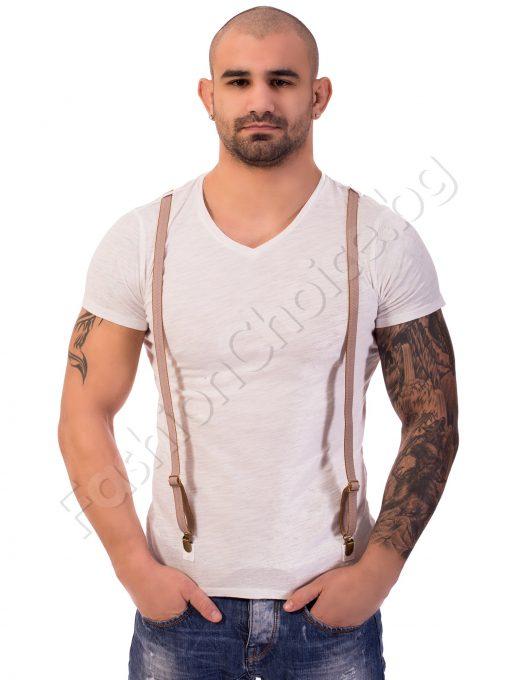Мъжка тениска с тиранти в три цвята