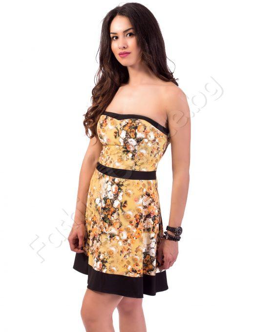 Прелестна рокля в свежи слънчеви и коралови нюанси