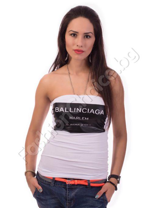 Бюстие с надпис BALLINCIAGA в бяло или черно