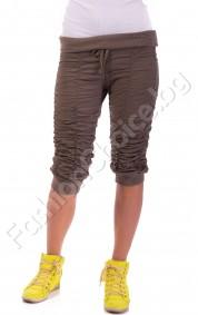 Летни панталони с набор и ефектно коланче в пет цвята