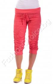 Летни панталони с набор и ефектно коланче в шест цвята