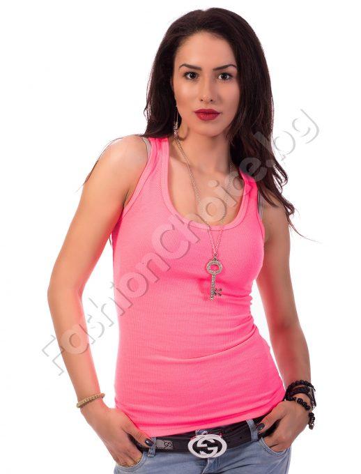 Дамски потник рипс в жълт или розов неон