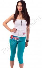 Лятно комплектче бюстие и клинче с акцент английско знаме
