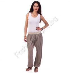 Панталон тип потур с еластичен плетен колан в три цвята