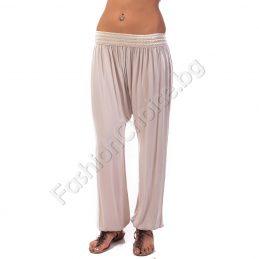Панталон потур с плетен колан в три цвята