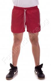 Панталони тип шорти в червено със сиви кантове и бандаж