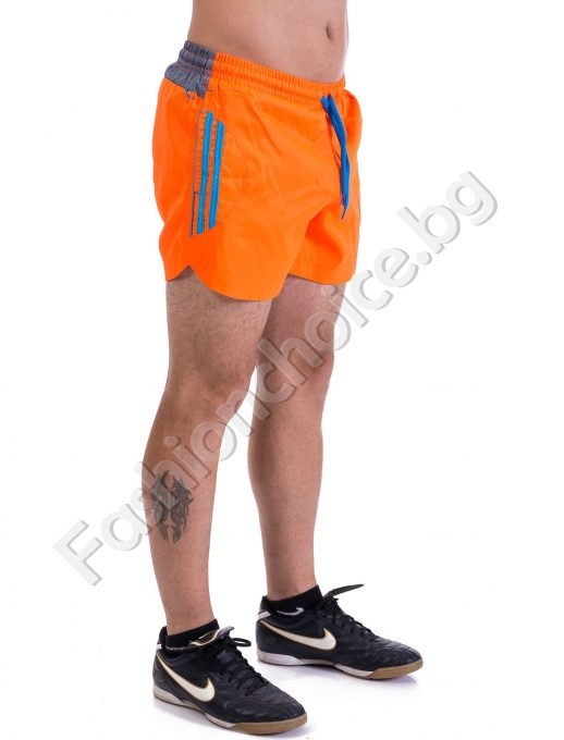Къси панталони тип шорти в пет цвята с кантове и бандаж