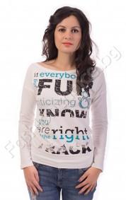 Дамска блуза If everybody's FUN в бяло, черно или мента