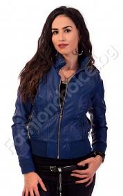 Късо дамско яке от еко кожа в четири цвята