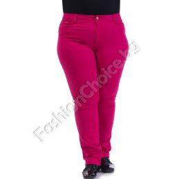 Изчистени прав панталон в свежи цветове /макси размери/