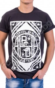 Мъжка тениска от памук REDHOOK BRKLYN в графит