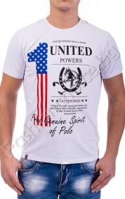 Мъжка тениска с обла яка UNITED POWERS в седем цвята