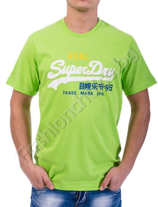 Мъжка блузка в шест цвята с щампа Real Superdry