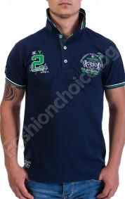 Стилна мъжка тениска с копчета и яка CONGRUENT