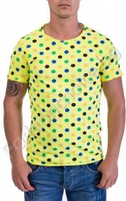 Мъжка тениска на точки с къс ръкав в три цвята