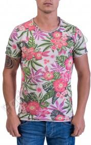 Мъжка тениска в четири свежи летни десена на цветя