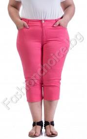 Летен 3/4 панталон за макси дами в корал и черно