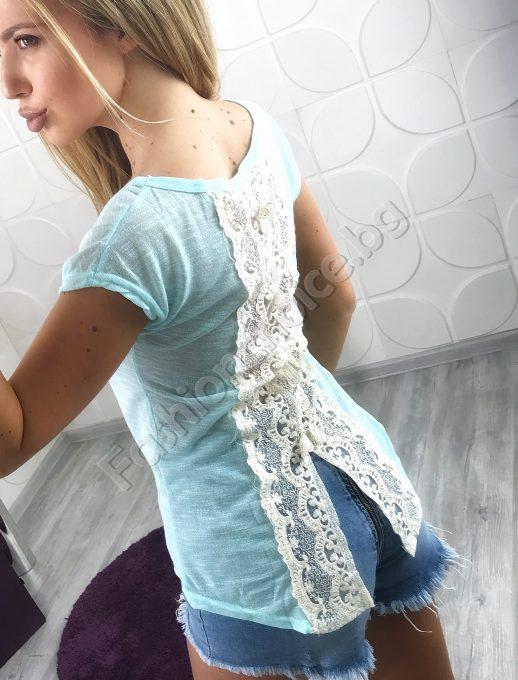 Дамска блуза COCO с гръб от дантела в три цвята