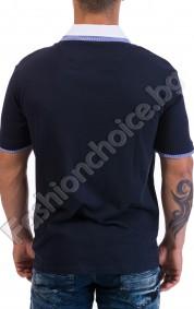 Модерна тениска с двойна якичка и копченца NORTHERN