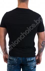 Черна мъжка тениска с щампа на BOB MARLEY