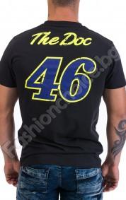 Лятна мъжка тениска от памук в черно с щампа MOTOR RANCH