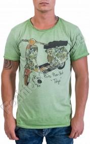 Лятна мъжка тениска с щампа на мотор в 4 цвята