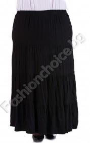Дълга макси пола с волани и намачкан ефект в 7 цвята
