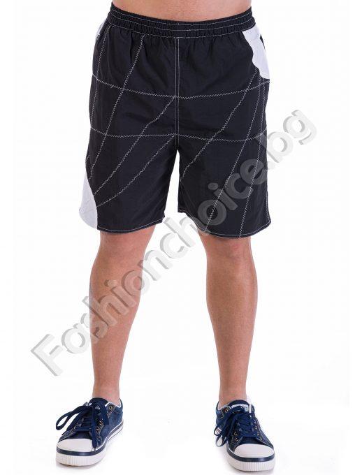 Летни мъжки 3/4 бермуди в два цвята с бандаж и джобчета