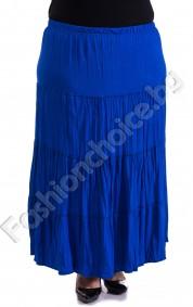 Дълга макси пола с волани и намачкан ефект в 8 цвята