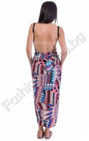 Ефектна дълга плажна рокля на фигури, модел прегърни ме