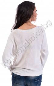 Дамска блуза BEAUTY 23 от плетиво с дигитална щампа