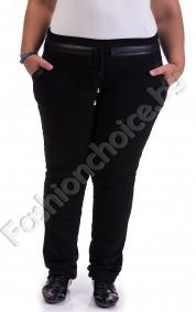 Макси панталон в черно с джобчета и промазка за акцент
