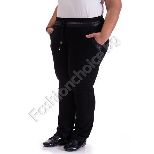 Макси долнище в черно с джобчета и промазка за акцент