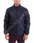Удобно и практично мъжко яке в черно и тъмно синьо
