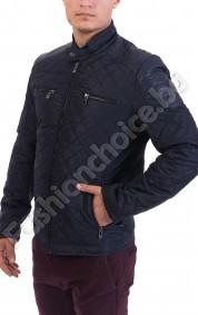 Вталено мъжко яке в 3 цвята с еко кожа на раменете