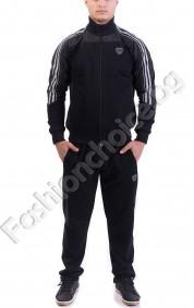 Мъжки спортен екип с кантове и джобчета в три цвята
