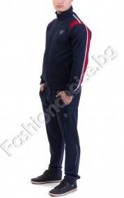 Спортен мъжки комплект с цветни кантове в 5 цвята