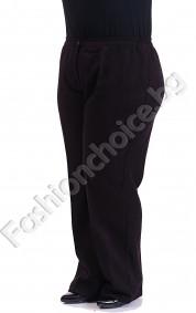 Класически макси панталон в черен и бордо меланж