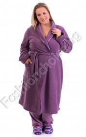 Уютен макси халат от хавлиена материя в три цвята