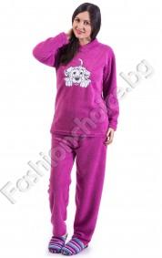 Мека и удобна дамска пижама в четири цвята с кученца
