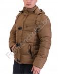 Зимно мъжко яке с махаща се качулка в два цвята