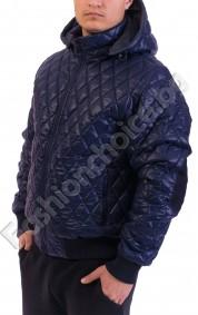 Топло мъжко яке с качулка и джобчета в два цвята