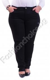 Изчистен макси панталон в черно с джобчета