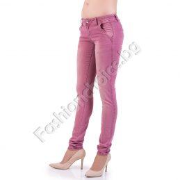 Памучен дамски панталон с джобчета в пет цвята