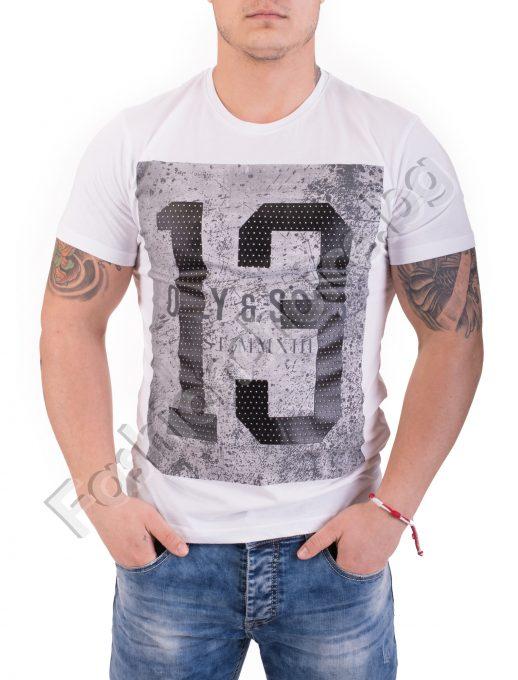 Удобна и практична мъжка тениски в два цвята с щампа 13